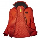 HELLY HANSEN W HP RACING MIDLAYER JACKET CHERRY TOMATO OPEN thumbnail