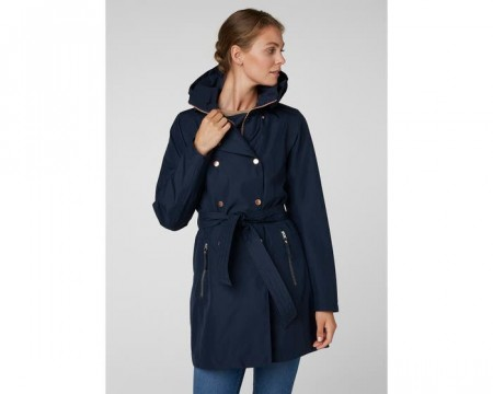 HELLY HANSEN W WELSEY II TRENCH NAVY