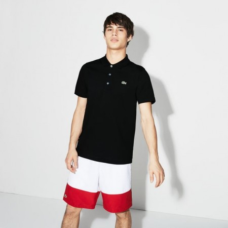 Men´s Lacoste SPORT Tennis regular fit polo in ultra-lightweight knit BLACK