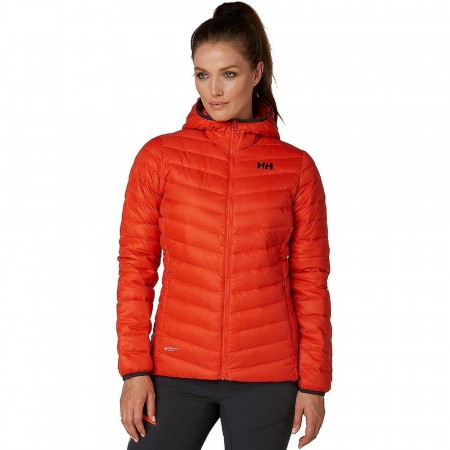 HELLY HANSEN W VERGLAS HOODED DOWN INSULATOR GRENADINE