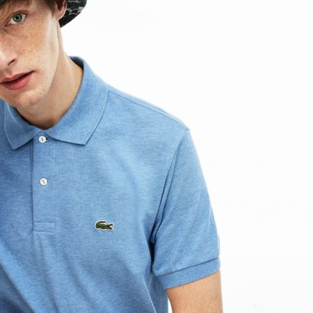 LACOSTE Marl Lacoste L.12.12 Polo Shirt Blue Chine • EUA