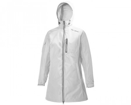 HELLY HANSEN W LONG BELFAST JACKET WHITE