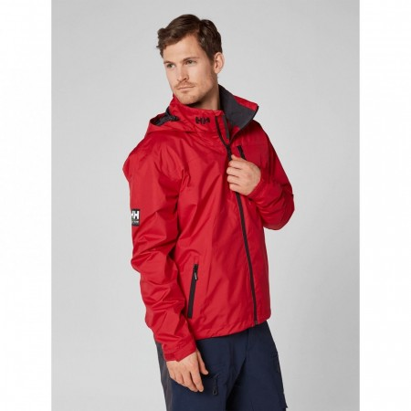 HELLY HANSEN CREW HOODED MIDLAYER JACKET RED