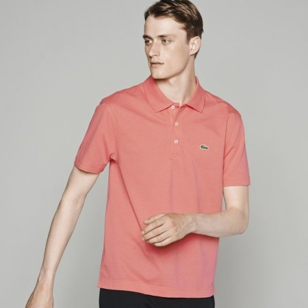 Men´s Lacoste SPORT Tennis regular fit polo in ultra-lightweight knit MADRAS PINK