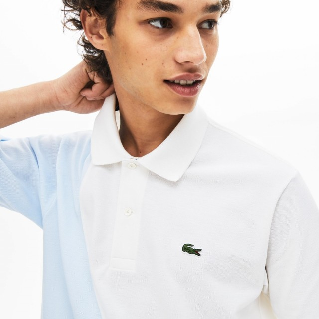 LACOSTE Lacoste Classic Fit L.12.12 Polo Shirt White • 001 DETAIL