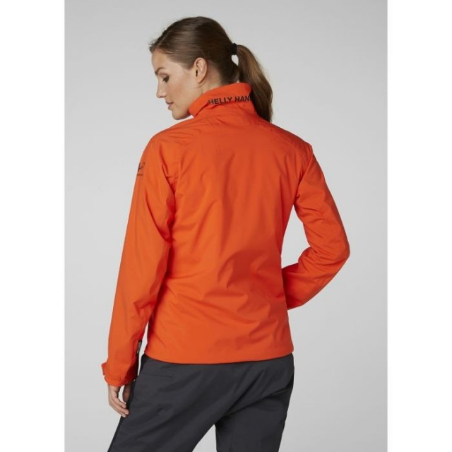 HELLY HANSEN W HP RACING MIDLAYER JACKET CHERRY TOMATO BACK