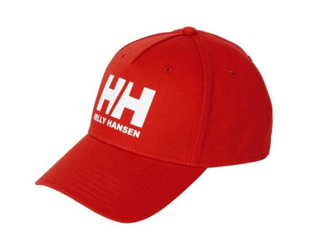 HELLY HANSEN HH BALL CAP ALERT RED FRONT