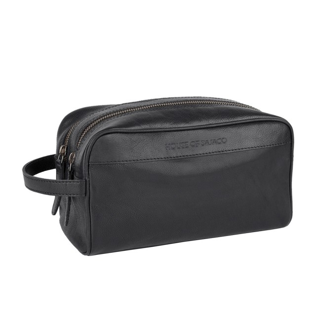 TOILET BAG MEDIUM HOUSE OF SAJACO - Calf Leather - Black