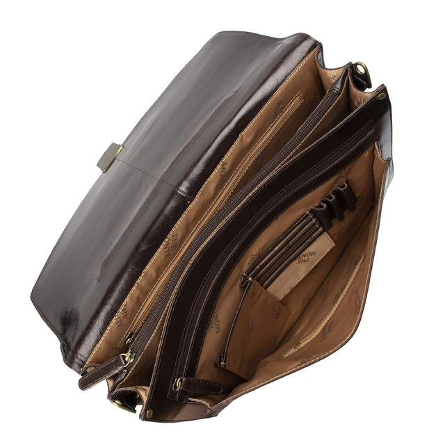 BRIEFCASE MEDIUM THE MONTE - Calf Leather - Inside