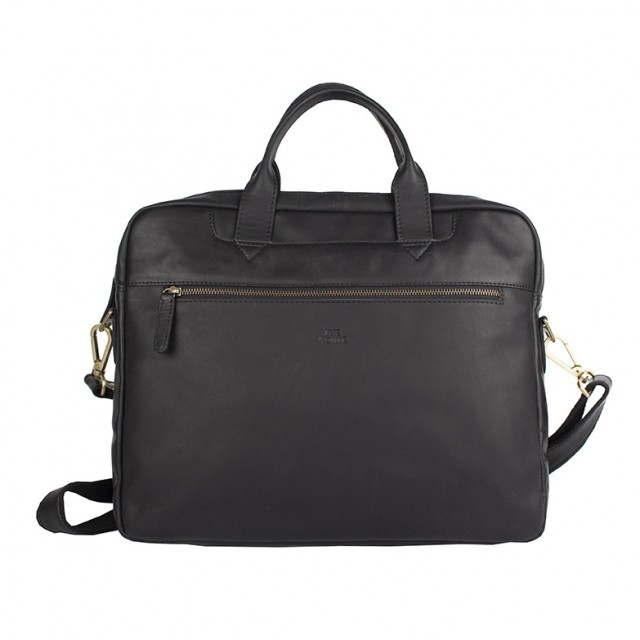 BRIEFCASE MEDIUM THE MONTE - Calf Leather - Front