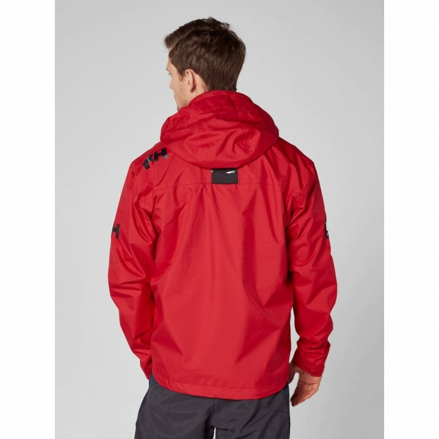 Crew Hooded Midlayer Jacket Red
