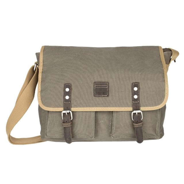 FLAPBAG TROOP - TROOP London - COTTON - Canvas - Front