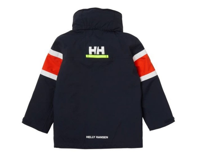 HELLY HANSEN K SKAGEN JACKET NAVY BACK