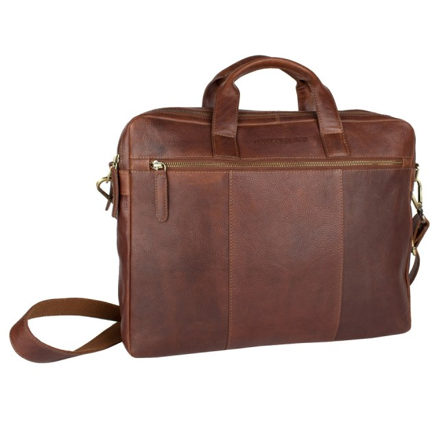 BRIEFCASE MEDIUM 2 CPT HOUSE OF SAJACO - Calf Leather