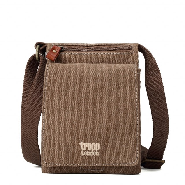 CROSSBODY TROOP - TROOP London - COTTON - Canvas - Front