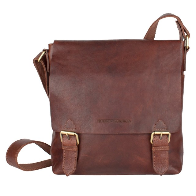 FLAP BAG MEDIUM HOUSE OF SAJACO - Brown