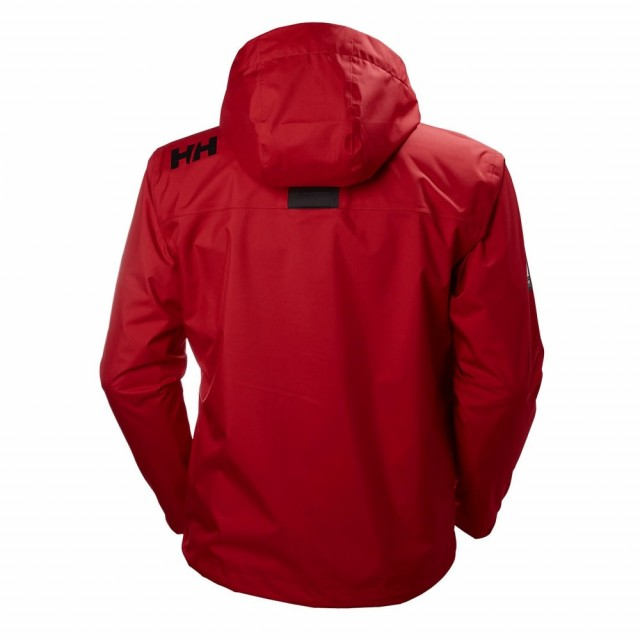 Crew Hooded Midlayer Jacket Red Back