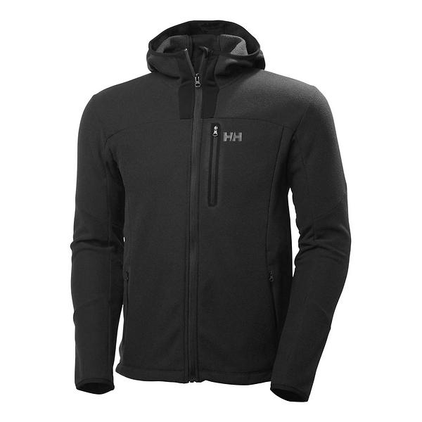 HELLY HANSEN VANIR FLEECE JACKET BLACK FRONT